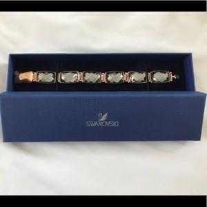 Swarovski Nirvana gun metal crystal bracelet